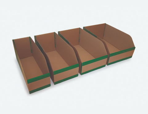 200mm High Cardboard Parts Bins - 450mm Long (25 pcs)
