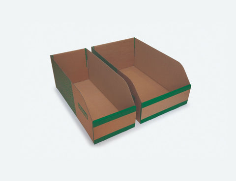 200mm High Cardboard Parts Bins - 500mm Long (25 pcs)