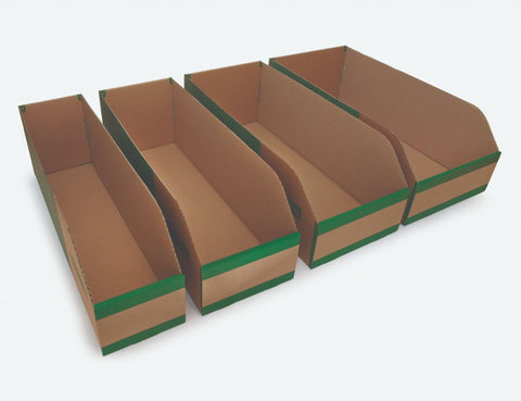 200mm High Cardboard Parts Bins - 600mm Long (25 pcs)