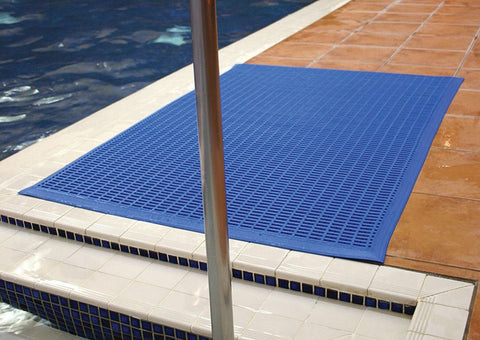 Flowmat Swimming Pool Floor Mats Blue Red Green