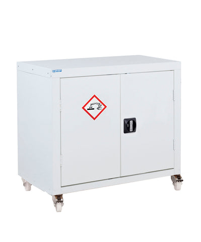 mobile acid and alkali cabinet small