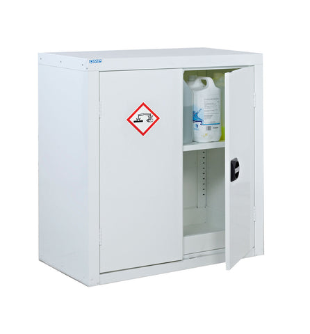 Standard acid & alkali cabinet with open door
