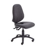 Armless Ergonomic Office Chair with Lumbar Pump charcoal