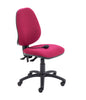 Armless Ergonomic Office Chair with Lumbar Pump claret