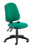 Armless Ergonomic Office Chair with Lumbar Pump green
