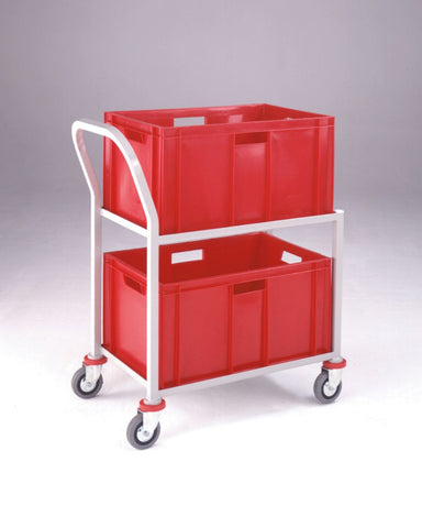Container Trolley with 2 Plastic Euro Containers