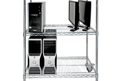 ESD Chrome Wire Shelving Bay