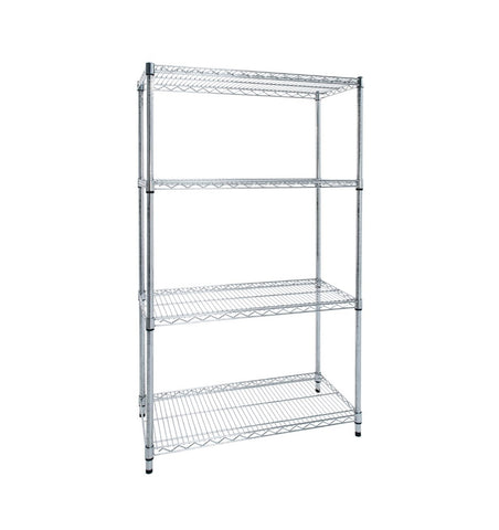 chrome wire shelving bay
