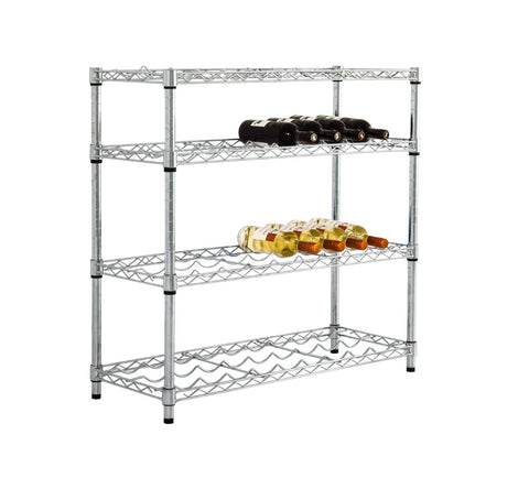 low height chrome wire wine rack