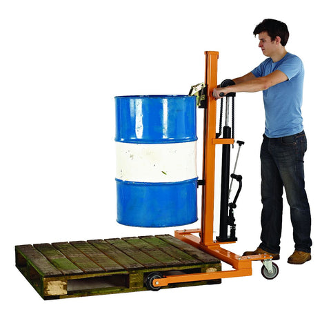Euro Pallet Drum Lifter - 300kg in use