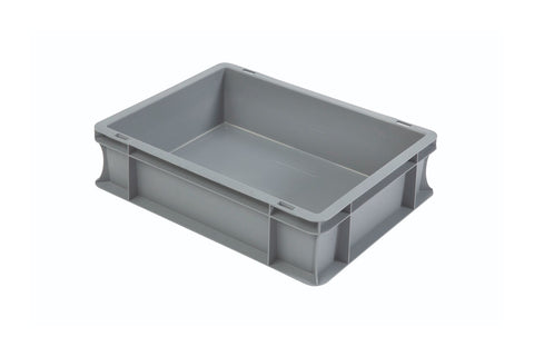 10 Litre Plastic Euro Containers (400mm x 300mm x 120mm)