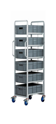 6 Tier Euro Container Trolleys with Containers
