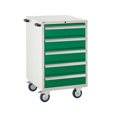 EUC986065CMG Mobile Tool Cabinet with 5 Drawers (Same Sizes) Green