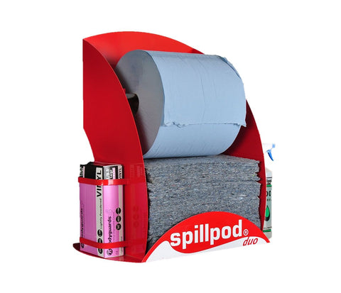 Spillpod Duo - Absorbent Spill Station Fully Stocked