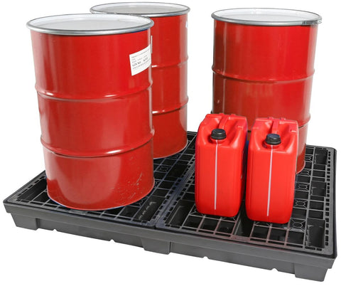 4 Drum Low Level Recycled Spill Pallet - 250L prop