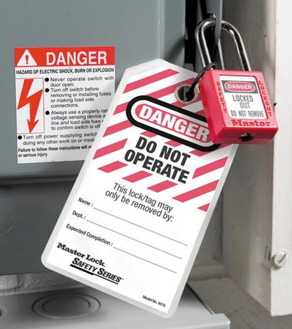 6 Extreme Duty Lockout Tags
