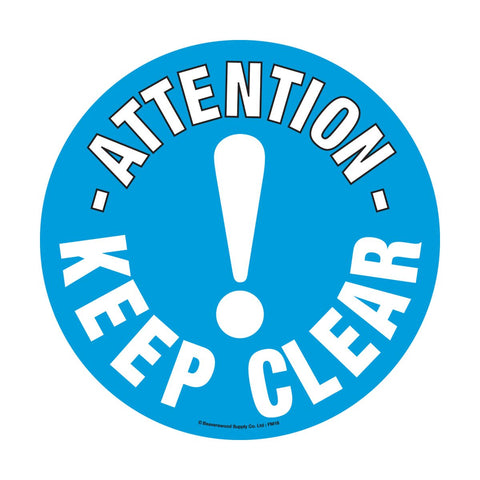 430mm Self Adhesive Floor Sign - Keep Clear