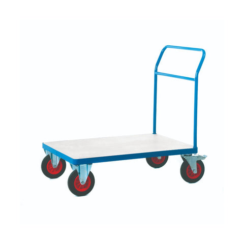Galvanised Metal Platform Truck - Single Bar End