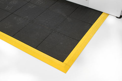 anti fatigue mat with yellow border