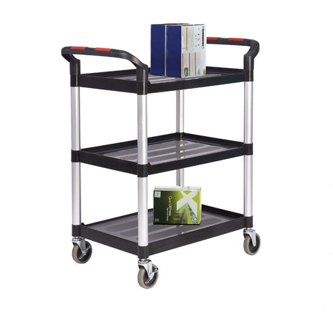 Eco Ali-Plastic 3 Tier Shelf Trolley 750mm (l) x 460mm (w) x 980mm (h)