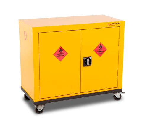 Mobile Yellow COSHH Cabinet