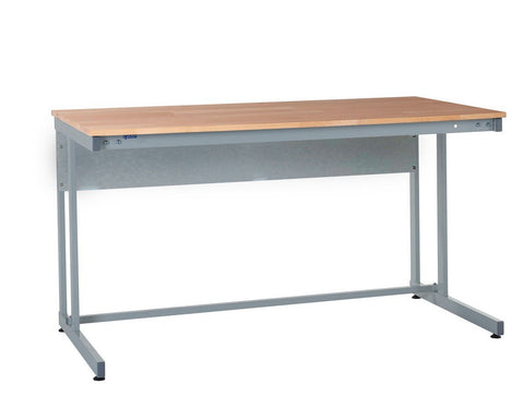 Cantilever Workbench with Solid Wood Worktop