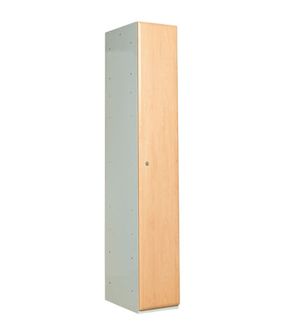 1 compartment wood door locker beech