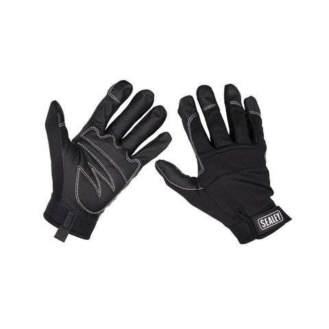 Mechanic's High-Grip Workshop Gloves - 1 Pair