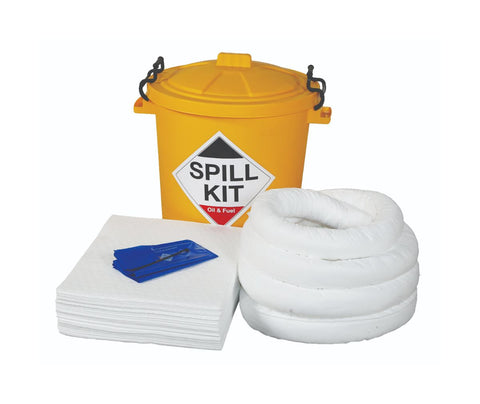 Oil spill kit and contents