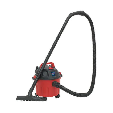 1000W Industrial Wet & Dry Vacuum Cleaner - 10L red