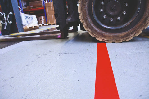 Forklift Area Durable PVC Line Marking Tape (75mm / 3