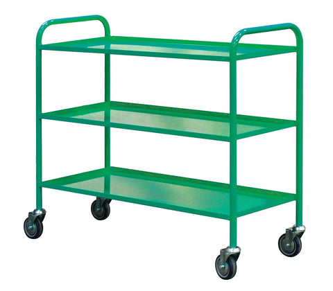 3 Tier Economy Shelf Trolley RTLD9649113G Green