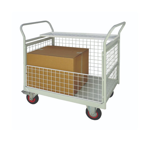 Mailroom Distribution Trolleys - Full Sides