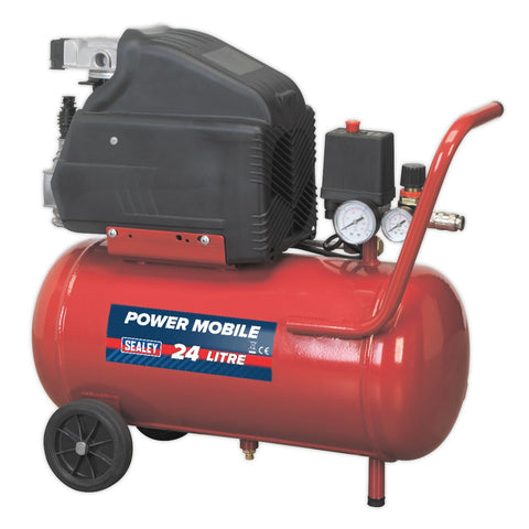 1.5hp 24L Portable Compressor - Direct Drive