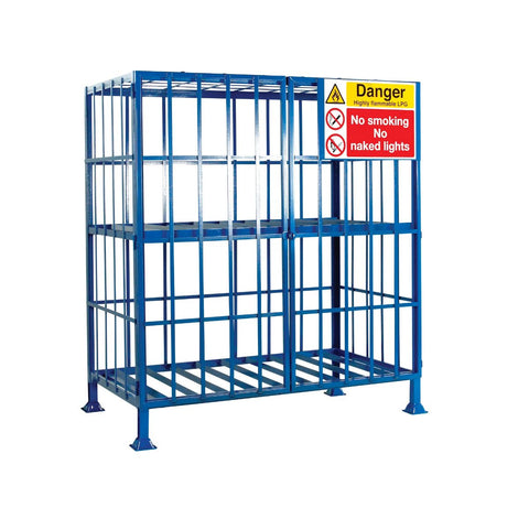 Static Gas Cage for 16 Calor Gas Cylinders empty medium