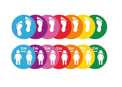 Colourful School Social Distancing Floor Stickers