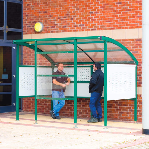 Metal Workplace Smoking Shelters with Steel Sides