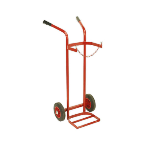 Welding Bottle Trolley for 1 Cylinder (Solid Wheels)