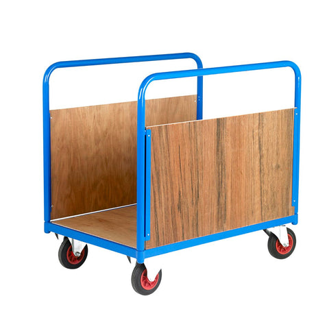 Board and Long Goods Platform Trolley - Timber Sides 1025mm (l) x 725mm (w)