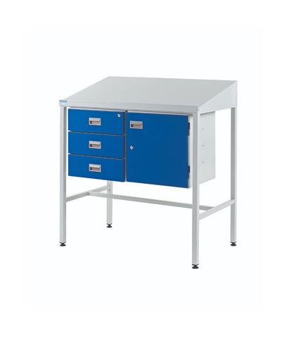 Industrial Workstations with Cupboard & Triple Drawer