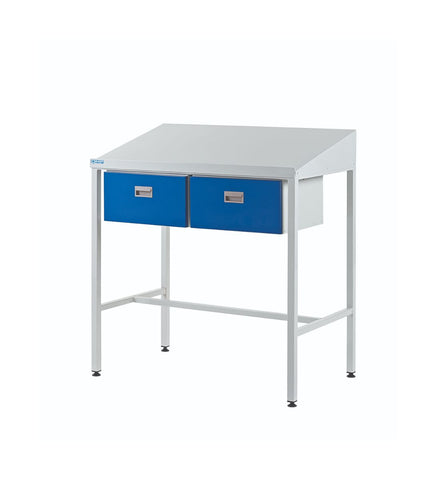 Team Leader Workstations with Double Drawers sloping