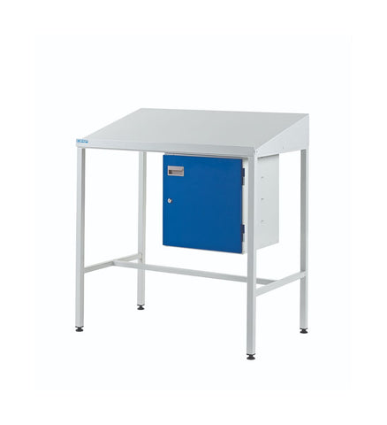 Team-Leader Workstations with Single Cupboard sloping