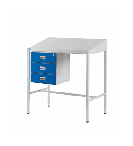 Team Leader Workstations with a Triple Drawer sloping