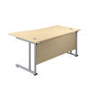 Right Hand Wave Office Desks maple silver