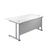 Right Hand Wave Office Desks white silver