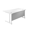 Right Hand Wave Office Desks white white