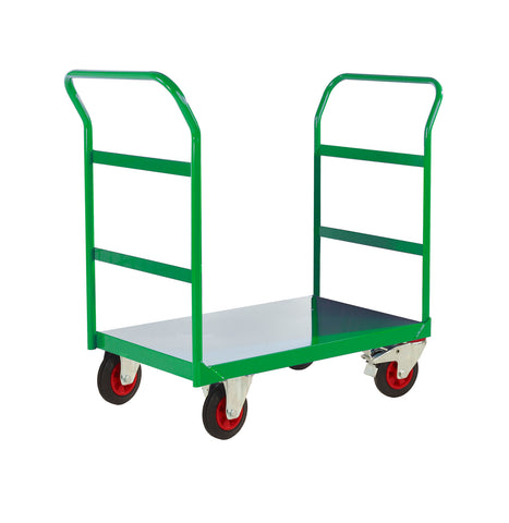 Twin Handle Platform Trolley with Open Ends
