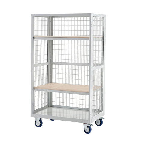 XW169060PLXX Open Front Cage Trolley with Plywood Shelves
