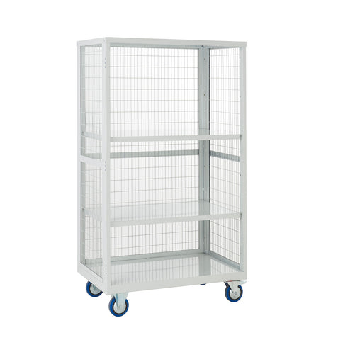 XW199060MLXX Open Front Cage Trolley with Steel Shelves