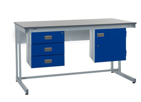 Cantilever Workbench and Accessories Kit B - Laminate Worktop